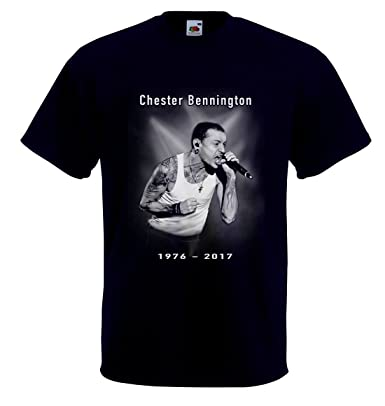 d55ed3195 Chester Bennington Tribute t-Shirt RIP 1976-2017 Singer and Songwriter:  Amazon.co.uk: Clothing