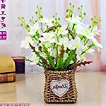 SituMi-Artificial-Fake-Flowers-Rattan-flower-baskets-silk-flower-home-decorwhite-begonia