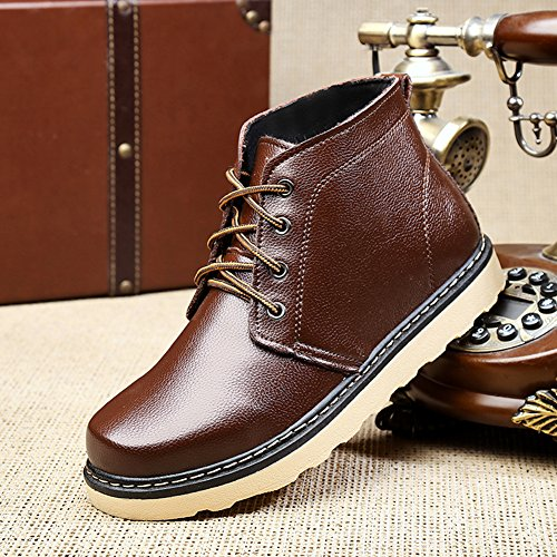 Senior Outdoor Shoe BERTERI Men's Lace Brown up Hiking Boot PU Backpacking Winter Citizen Zqxfwd
