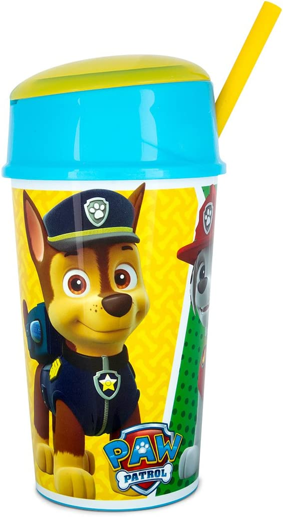 POS Handels GmbH Paw Patrol Gobelet pour fille avec paille 500 ml