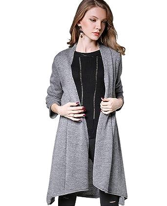 Tricot Élégant Longue Mode Manches Automne Printemps Femme En Veste Cg7q5t