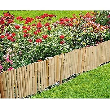 oriental bamboo lawn border edging fence amazon co uk garden