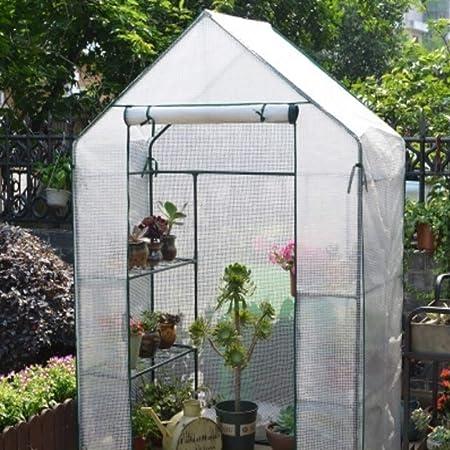 XY&CF-Flower house Invernadero Jardín PE Jardín Invernadero Cubierta Invernadero Casa cálida Casa de Flores Flor Planta Invernadero (143 * 73 * 195 cm) (Color : A): Amazon.es: Hogar