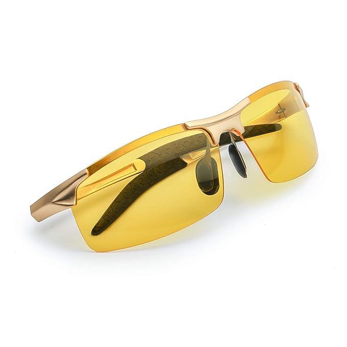 Myiaur gafas de so polarizadas amarillas para hombre de la conduccion nocturna/la motos nocturna/la bicicletas nocturna - 100% protección UVA UVB