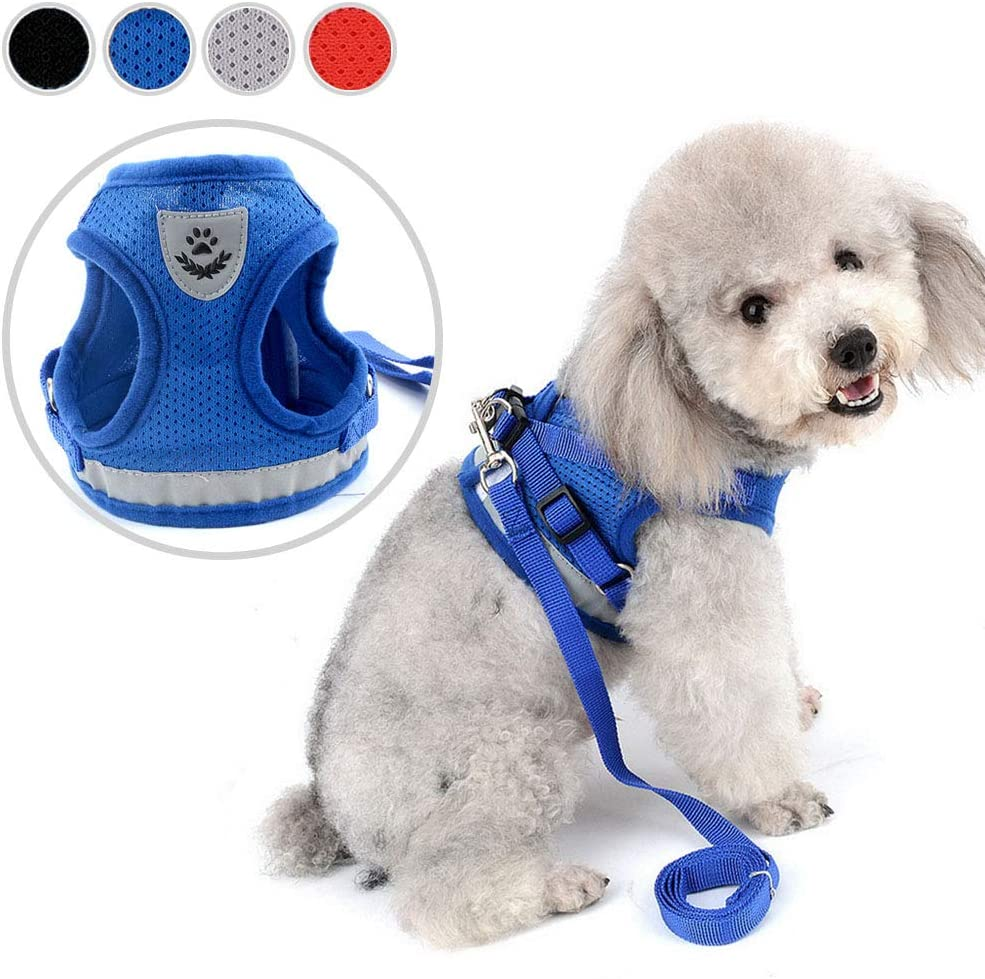 Soft Padded Small Dog Harness Vest Step In Puppy Pet Clothes Yorkshire Easy On