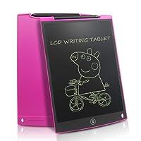 NEWYES LCD Schreibtafel Grafiktabletts 12 Zoll mit 2 Magenete 1 Stift Papierlos Wiederverwendbar Schreiben Malen Notizen zu Hause Büro Supermarkt usw (Rosa)
