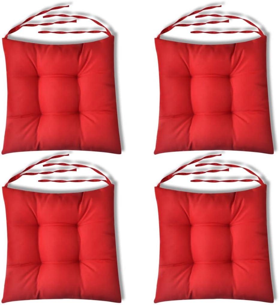 vidaXL 4x Cuscini per Sedie Alti per Interni Giardino