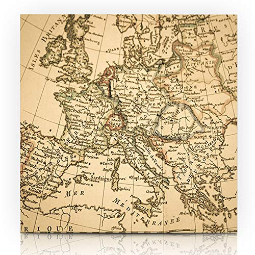 Spain Print Antique - Ahawoso Decor Canvas Print Wall Art Painting 8
