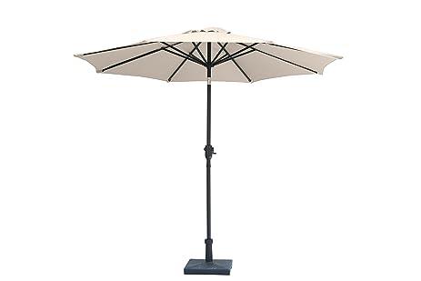 U201cJardin Du Sudu201d 9 Feet Aluminum Patio Umbrella With Auto Tilt And Crank,