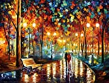 Rain's Rustle is an artist-embellished, hand-signed and numbered Giclee on Unstretched Canvas by Leonid Afremov. Leonid issued this special edition of Limited Edition prints at our gallery's request for the Holiday Season. We bought the entire editio...