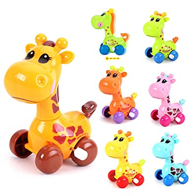 HuntGold Cute Plastic Wind Up Clockwork Running Animal Giraffe Unisex Baby Kids Toy Random Color: Toys & Games