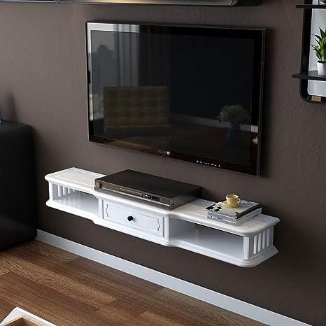 TV Rack Consola para Televisor TV con Mueble de Pared, Blanco, 120 cm: Amazon.es: Deportes y aire libre