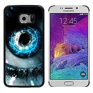 FECELL CITY // Duro Aluminio Pegatina PC Caso decorativo Funda Carcasa de Protección para Samsung Galaxy S6 EDGE SM-G925 // EARTH EYE