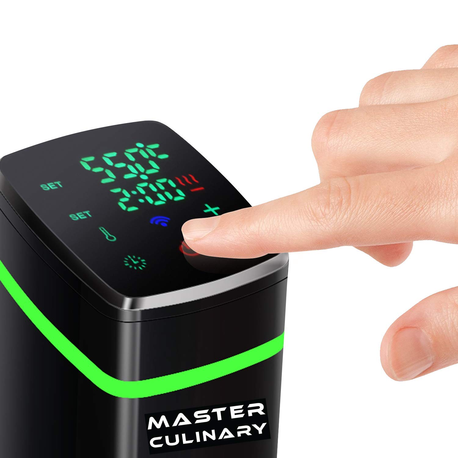 Master Culinary 1100W Wi-Fi Sous Vide Accurate Cooker | Free Mobile App Included | FDA Approved | Digital Display, Slick Design, Ultra Quiet | VOTED BY TOP CHEFS AS THE MOST ACCURATE IN THE MARKET