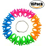 FBAPluto 16 Pieces Assorted Color Sewing Tools Accessories Thread Bobbins Holders Clips Clamps Silicone