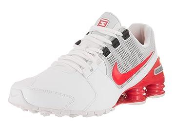 NIKE Men's Shox Avenue LTR White/Max Orange Running Shoe 8.5 Men US