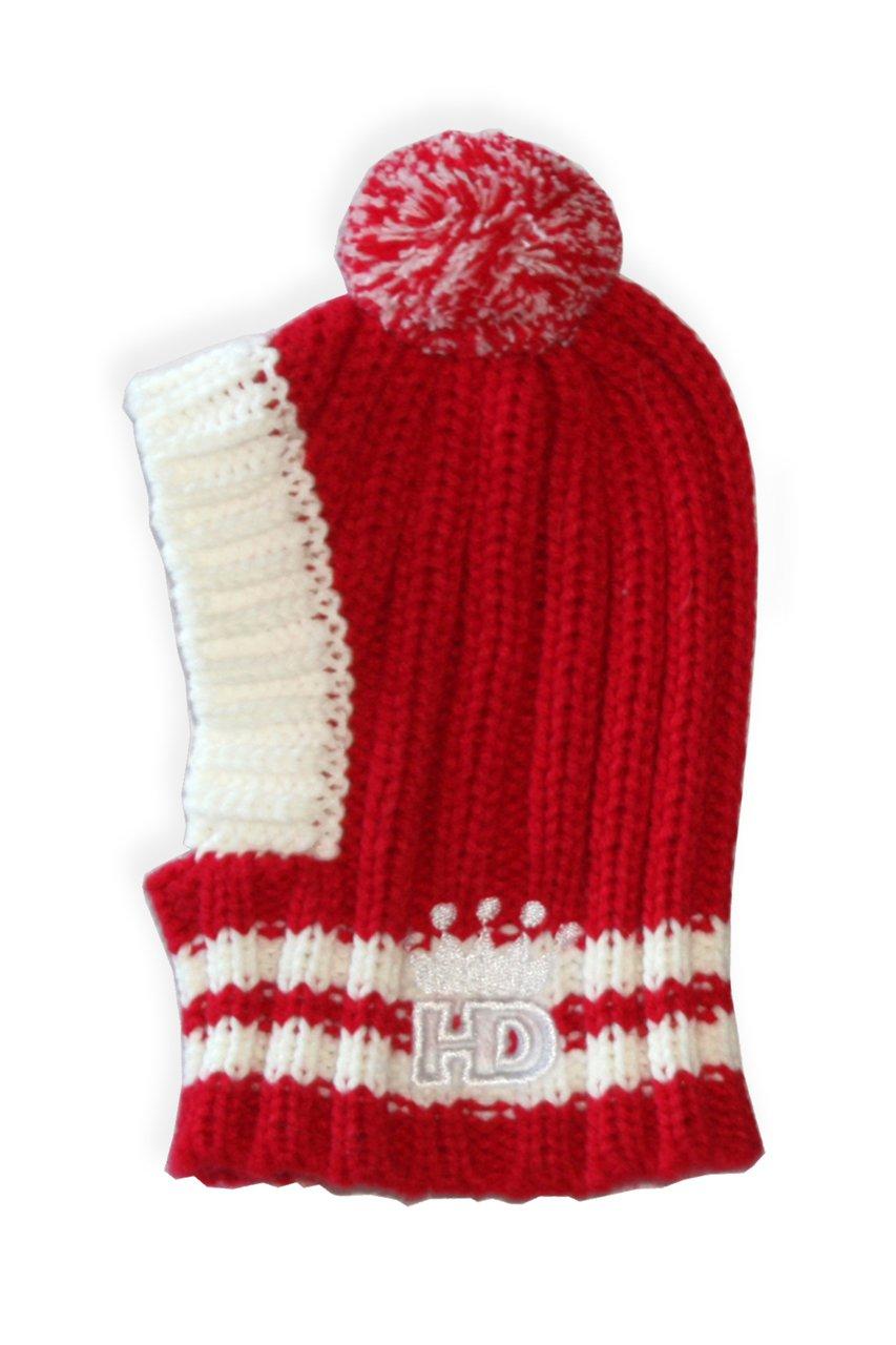 Hip Doggie HD-7CPR-M Medium HD Crown Knit Hat - Red