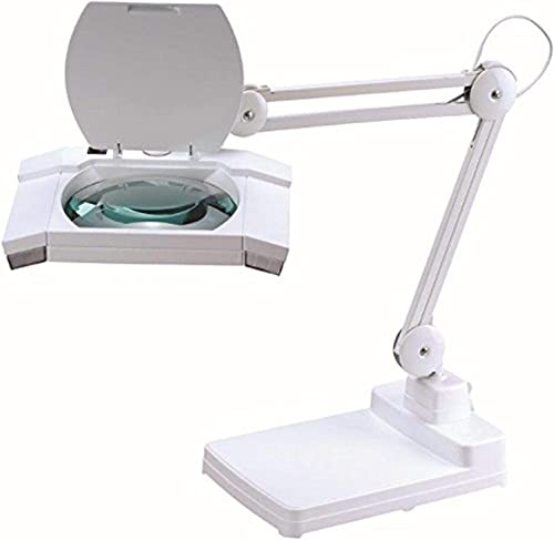 Artiva USA Heavy Duty Commercial Quality 5 X Diopters Magnifying Table Lamp