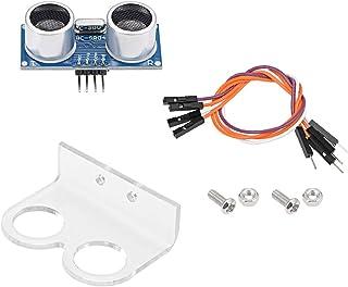 sourcing map Module Ultrasons HC-SR04 Distance Capteur avec Support et Chevalier Fil pour Arduino UNO MEGA R3 Mega2560 Duemilanove Nano Robot