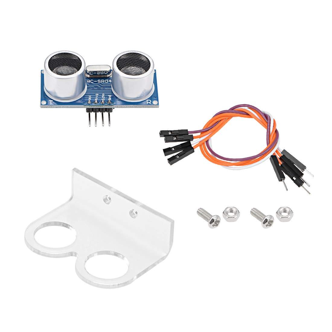uxcell Ultrasonic Module HC-SR04 Distance Sensor with Bracket and Jumper Wire for Arduino UNO MEGA R3 Mega2560 Duemilanove Nano Robot