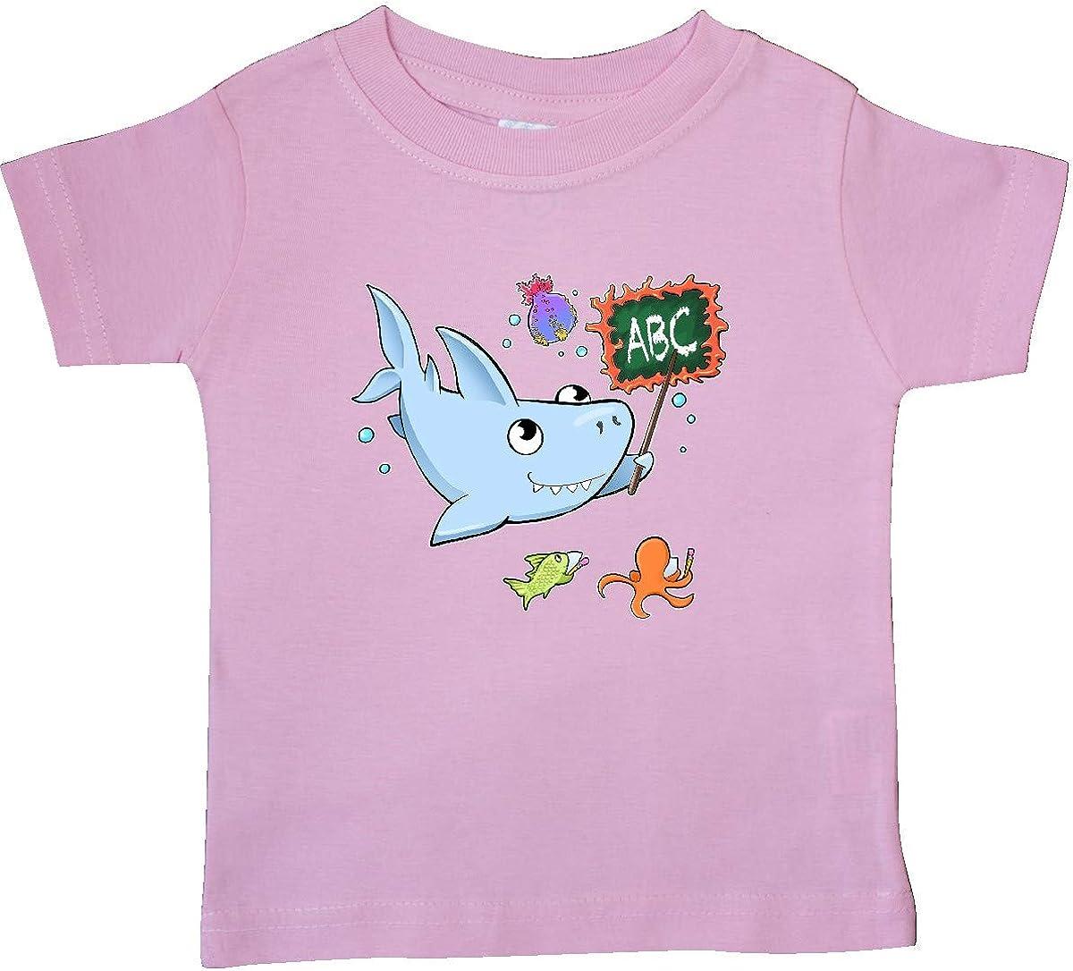 inktastic Teacher Shark with School of Fish Baby T-Shirt