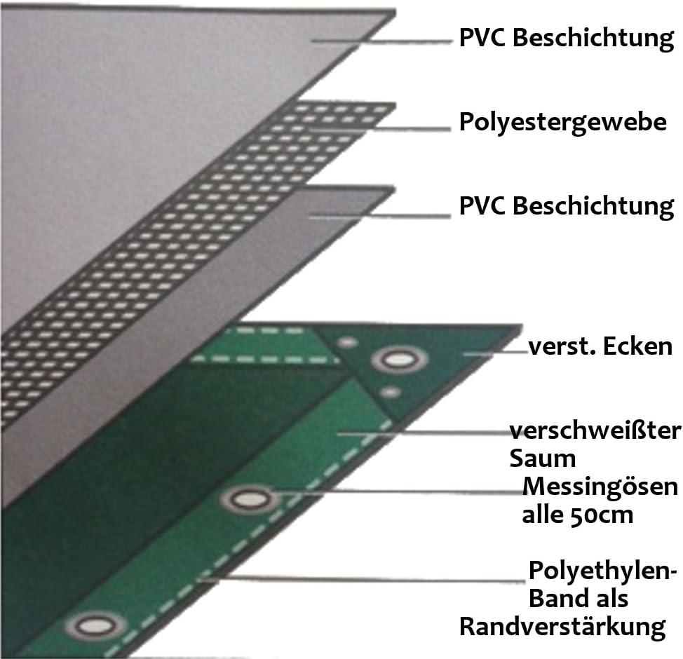 Plane 12m/² weiss 650 g//m/² PVC 3 x 4m