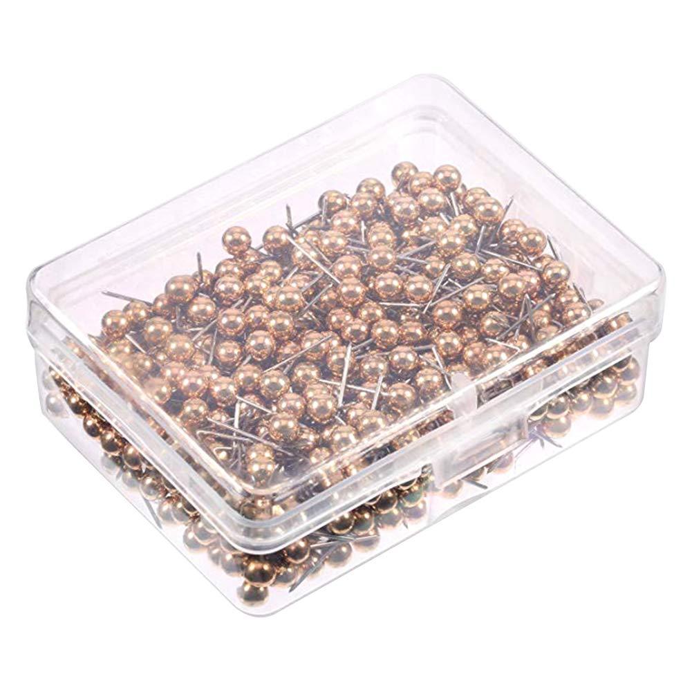 SCHEDA wdoit 400pezzi unghie puntine con metallo ischen punto testa rotonda in acciaio, per Codifica Brett plastica,0.43pollici, Oro 20 * 6MM 50pcs
