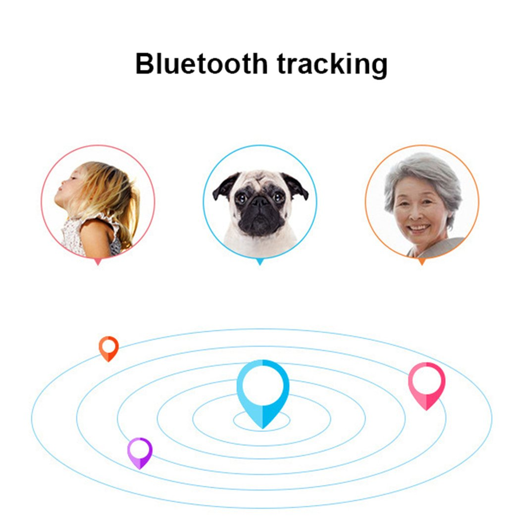 Yirind GPS Tracker Finder Locator Pet Tracker Bluetooth Key Finder Wireless Seeker Anti Lost Sensor for Key Wallet Phone Car Kids Dog Cat Outdoor Travel Camping Birthday Gift,Blue