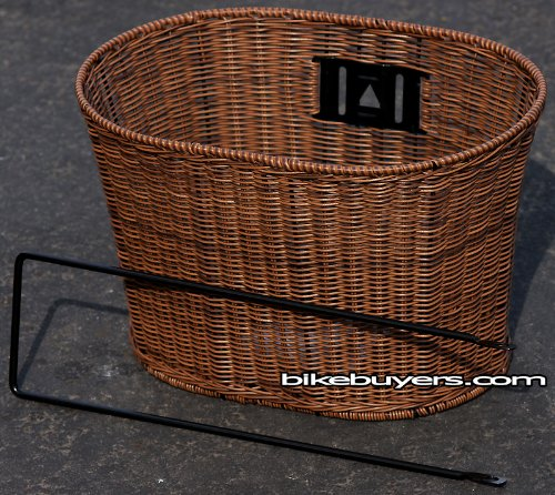 Fito Oval PE Wicker Mounting Basket, Dark Brown, Made in Taiwan, 13.5