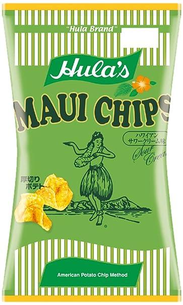 marca de Hula de Hawai Maui Virutas de crema agria del sabor bolsas 150gX9