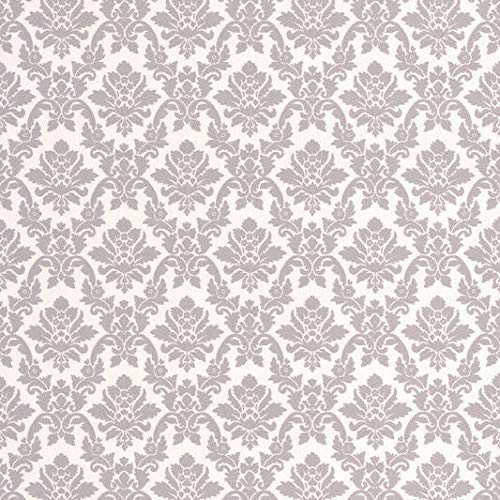 (Graham and Brown 20-565 56 Square Foot - Damask Gray - Unpasted Paper Wallpaper)