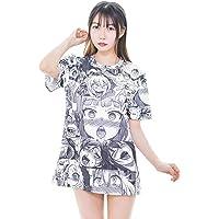 YOMORIO Ahegao T-Shirt 3D Print Short Sleeve Sexy Shirts Women Funny Casual Tops