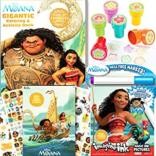 Disney Moana Coloring & Activity Book with Moana Stickers, Imagine Ink and More