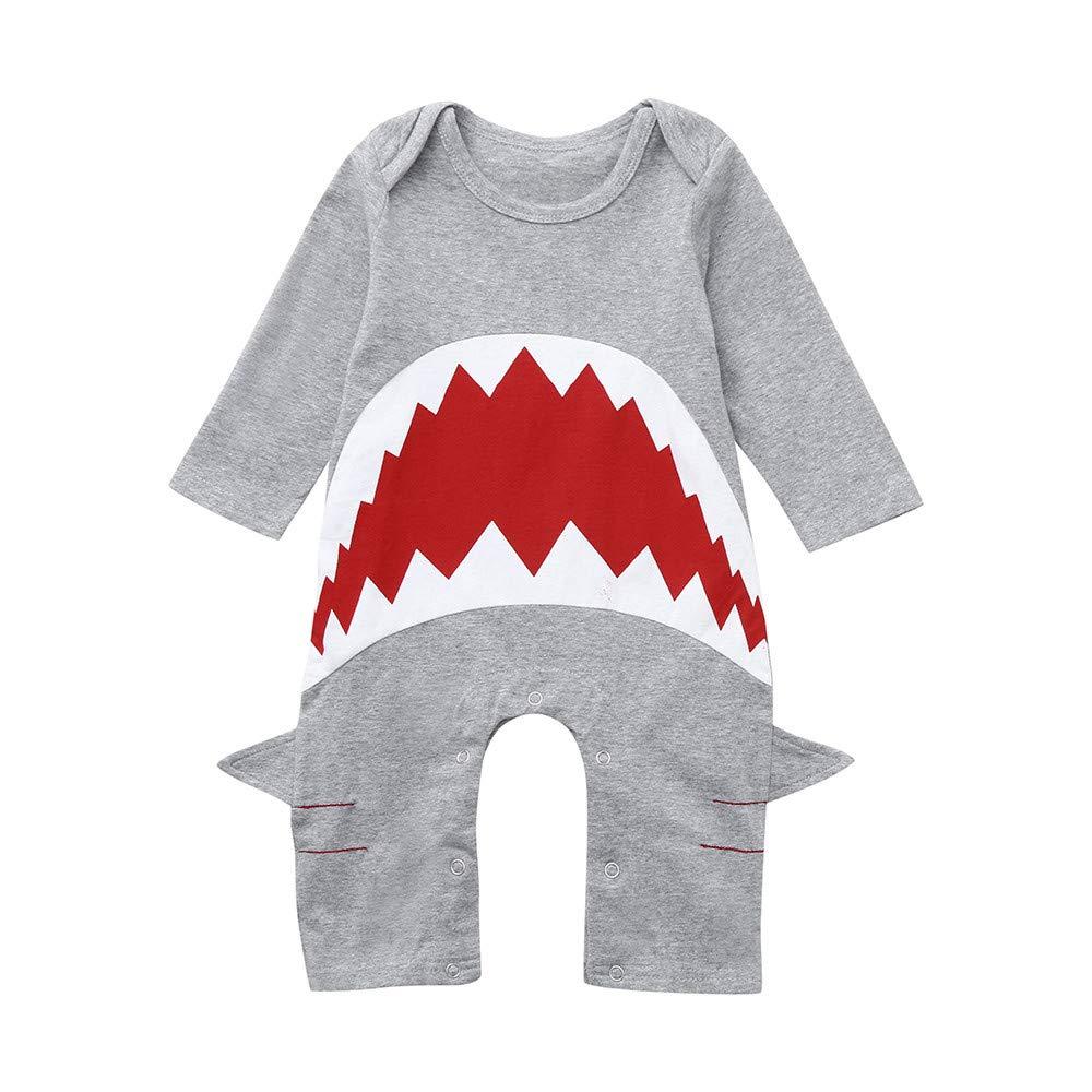 Cooljun - Pelele para bebé con capucha en 3D, diseño de tiburón ...