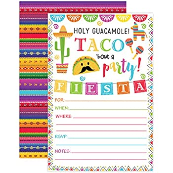 Amazon Com Fiesta Invitation Fiesta Birthday Party