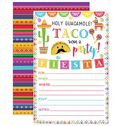 Fiesta Invitation, Fiesta Birthday Party Invitation, Mexican