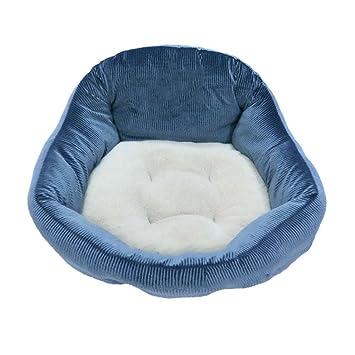 GHMM Cama para Mascotas Stripe Fabric Caseta de Perro Four Seasons Universal Soft Comfort Respirable Resistente al Agua Antideslizante Durable Opcional Cama ...