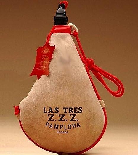 1//2 litro 0,5 L Bota de Vino Recta de l/átex Las Tres Z.Z.Z