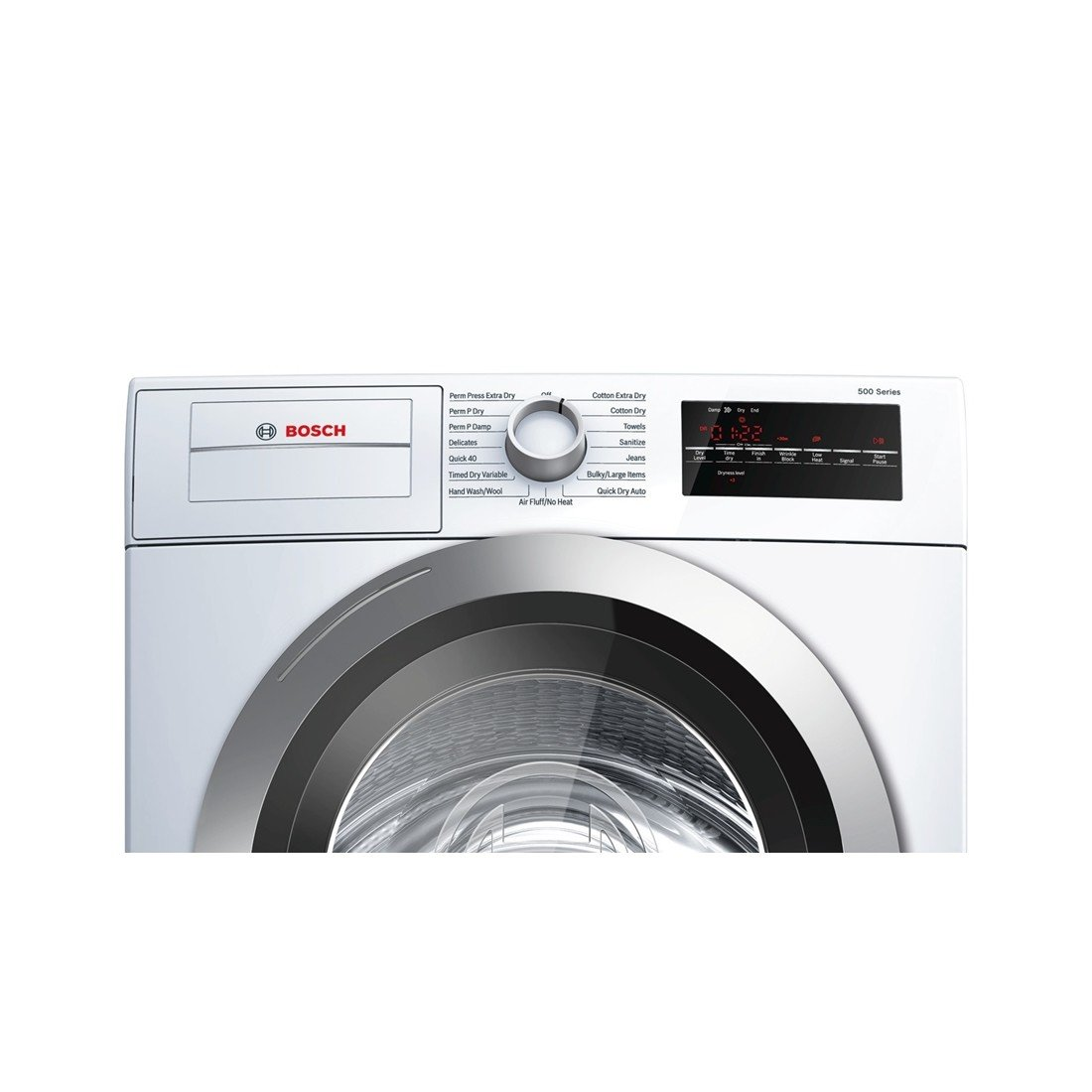 """Amazon.com: Bosch WTG86401UC 24"""" 500 Series Compact Condensation Dryer  with 4.0 Cu. Ft. Capacity Stainless Steel Drum Sensitive Drying System 15  Dry ..."""