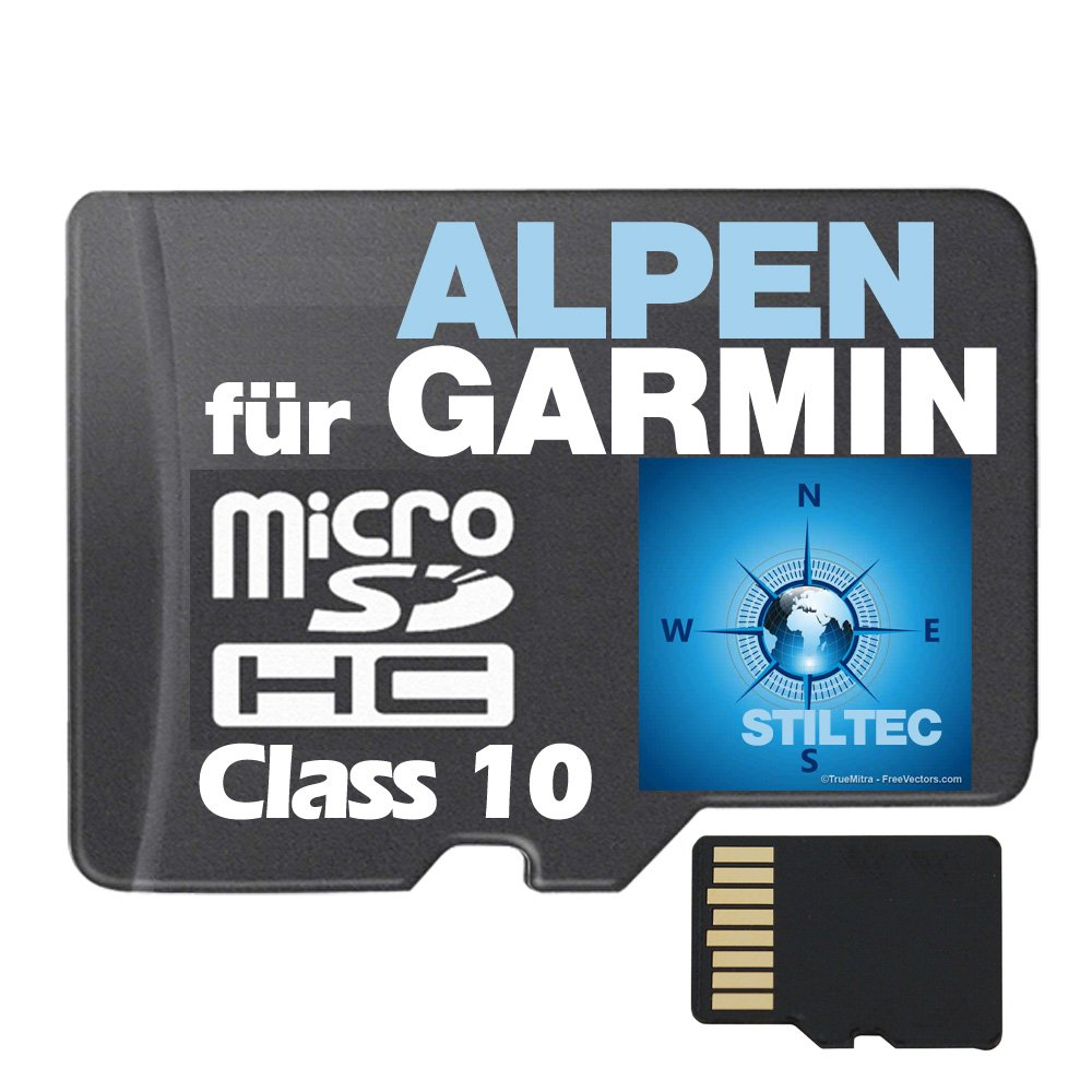 Topo Karte Alpen f Garmin Edge 800 810 1000 Touring Plus