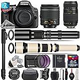 Holiday Saving Bundle for D3300 DSLR Camera + 650-1300mm Telephoto Lens + Tamron 70-300mm Di LD Lens + AF-P 18-55mm + 500mm Telephoto Lens + 2yr Extended Warranty + 32GB - International Version