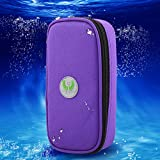 Portable Diabetic Organizer Cooler Bag Medical Care Cooler Case Travel Camping Ice Case for Insulin,Testing Supplies(Purple)
