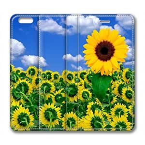 Iphone 6 Case,Sunflower Iphone 6 Cases,Custom Iphone 6(4.7)High-grade leather Cases