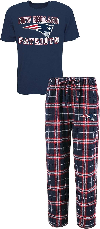 Concepts Sport New England Patriots NFL Great Duo - Camiseta de Manga Corta para Hombre, diseño de Pijama
