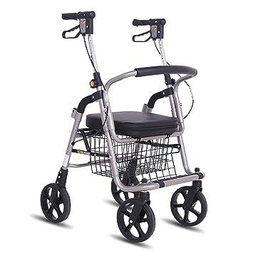 LXDDP Andador para Adultos, Conveniente Carro Plegable, Ayuda para ...