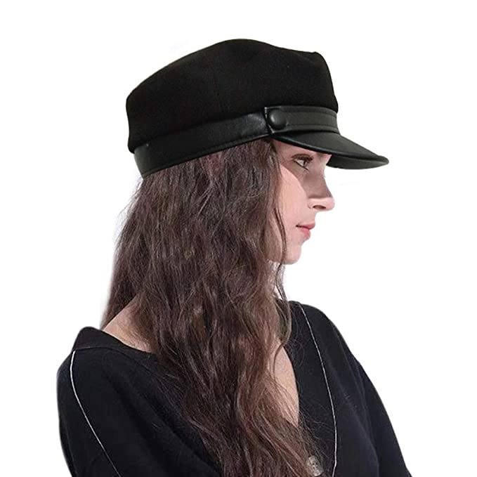 8f72f70db1366 Sytaitp Womens Wool Newsboy Visor Beret Hat Cap for Women Paperboy ...