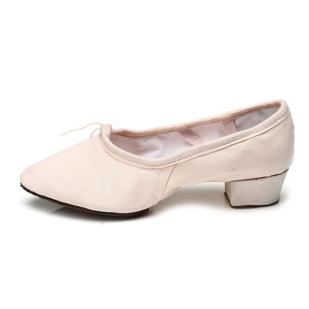 YKXLM Mujeres& Niña Zapatos latinos de baile Zapatillas de baile de salón Salsa Tango Performance Calzado de Danza, Modelo ES101
