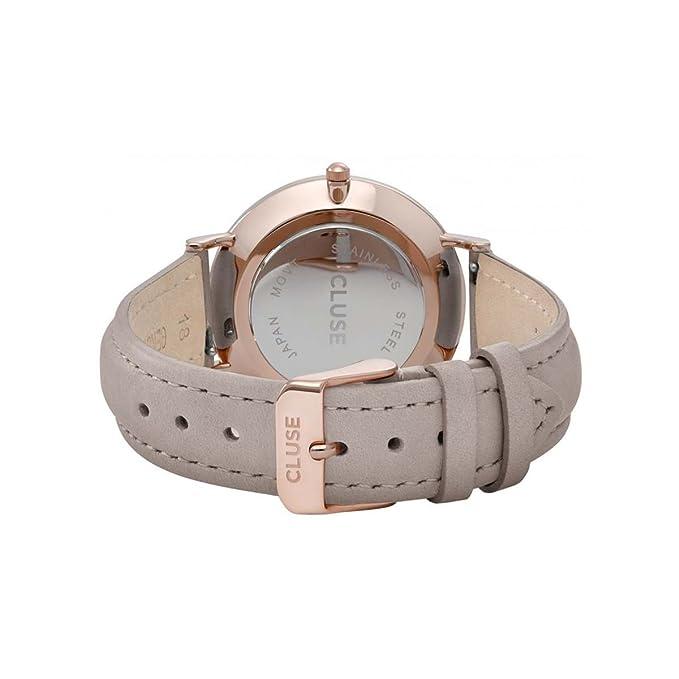 CLUSE Reloj Analógico para Mujer de Cuarzo con Correa en Cuero CLA001: Amazon.es: Relojes