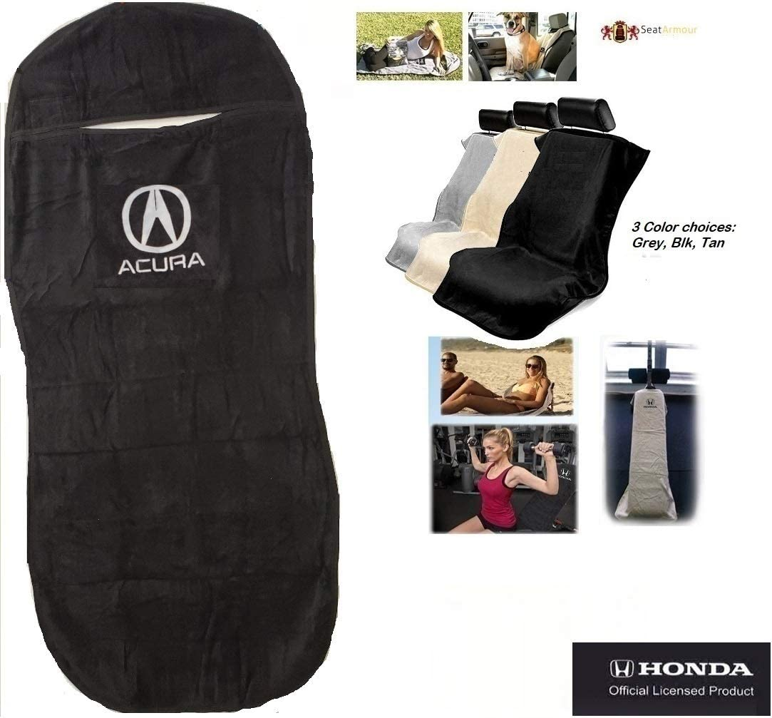 Seat Armour SA100ACUB Black Seat Protector Towel Acura