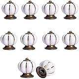 Beautiful Life * 10 Pcs Möbelknopf armoire boutons boutons de meubles Set poignée en céramique de Möbelgriff blanc Citrouille